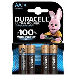 ULTRA POWER TYPE AA - 4PCS - DURACELL